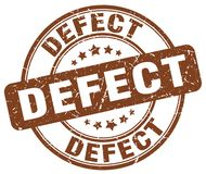 sello del marrón del defecto ilustración del vector