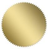 Sello del oro Imagen de archivo libre de regalías