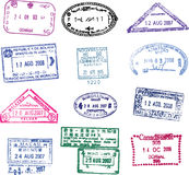 Sello del pasaporte del vector Fotografía de archivo libre de regalías