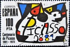 Sello del pintor Pablo Picasso fotos de archivo libres de regalías