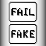 Sello del pixel del fall y de la falsificación libre illustration