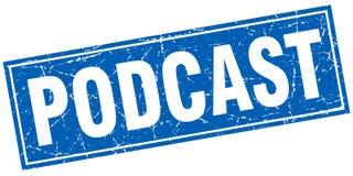 Sello del podcast ilustración del vector