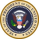 Sello del presidente de los E.E.U.U. Imágenes de archivo libres de regalías