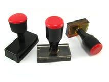 Sello del rojo y del negro fotografía de archivo