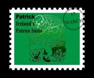 Sello del St Patrick Fotografía de archivo