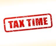 Sello del texto del tiempo del impuesto stock de ilustración