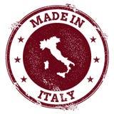 Sello del vector de Italia stock de ilustración
