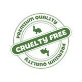 Sello del vector: La crueldad libera, no probado en muestra de los animales fotografía de archivo