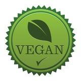 Sello del vegano Imagenes de archivo