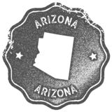 Sello del vintage del mapa de Arizona libre illustration
