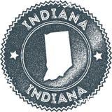 Sello del vintage del mapa de Indiana libre illustration