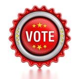 Sello del voto Foto de archivo libre de regalías
