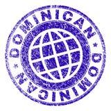 Sello DOMINICANO texturizado Grunge del sello stock de ilustración