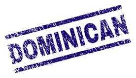 Sello DOMINICANO texturizado rasguñado del sello ilustración del vector