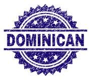 Sello DOMINICANO texturizado rasguñado del sello stock de ilustración