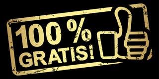 sello el 100% del oro gratis stock de ilustración