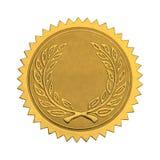 Sello en blanco del honor del oro imagenes de archivo