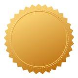 Sello en blanco del oro del acuerdo ilustración del vector
