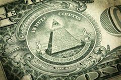 Sello en el dólar Bill Fotografía de archivo libre de regalías