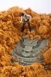 Sello enterrado de los Estados Unidos Imagen de archivo