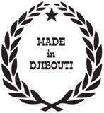 Sello estilizado hecho en Djibouti Foto de archivo libre de regalías