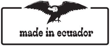 Sello estilizado hecho en Ecuador stock de ilustración
