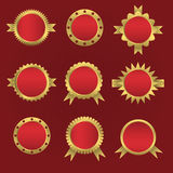 Sello-etiquetas engomadas del vector fijadas Imagenes de archivo