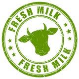 Sello fresco de la leche Fotografía de archivo libre de regalías