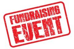 Sello Fundraising del evento stock de ilustración