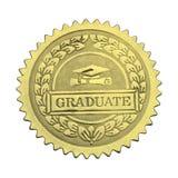 Sello graduado del oro Imagenes de archivo