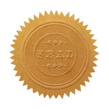 Sello grande del oro fotografía de archivo