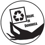 Sello hecho en Dominica stock de ilustración