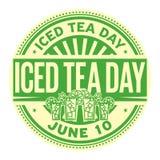 Sello helado del día del té libre illustration