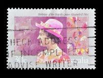 Sello impreso por Australia imagenes de archivo