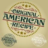 Sello/insignia americanos originales de la receta ilustración del vector