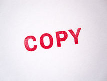 Sello legal rojo de la copia Imagen de archivo libre de regalías
