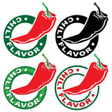 Sello/marca del sabor del chile Imagenes de archivo