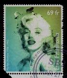 Sello Marilyn Monroe del vintage Imágenes de archivo libres de regalías