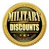 Sello militar del descuento Imágenes de archivo libres de regalías