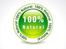 Sello natural del extracto el 100% Foto de archivo libre de regalías