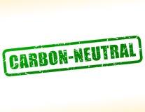 Sello neutral del texto del carbono Fotos de archivo libres de regalías
