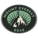 Sello o emblema con el texto el monte Everest libre illustration