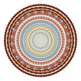 Sello o sello adornado del vector con las fronteras de lujo redondas Fotos de archivo