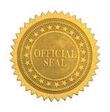 Sello oficial de la estrella Fotografía de archivo