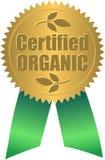 Sello orgánico certificado/EPS Fotografía de archivo