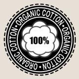 Sello orgánico del algodón el 100% Foto de archivo libre de regalías