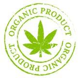 Sello orgánico verde de la marijuana del cáñamo Imágenes de archivo libres de regalías