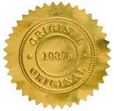 Sello original del sello de oro Imagen de archivo libre de regalías