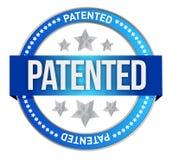 Sello patentado de la propiedad intelectual ilustración del vector