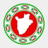 Sello plano de Burundi libre illustration
